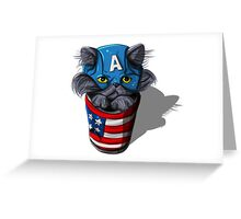 Cat-tin America Greeting Card