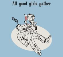 BioShock – All Good Girls Gather Poster (Black) Kids Tee