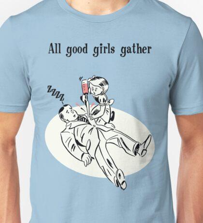 BioShock – All Good Girls Gather Poster (Black) Unisex T-Shirt
