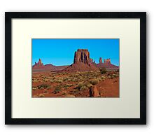 Amazing Daytime Image of Monument Valley Framed Print