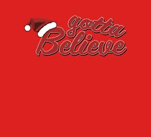 Believe in Santa Claus Womens Fitted T-Shirt
