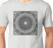 Black And White Flower Mandala Unisex T-Shirt
