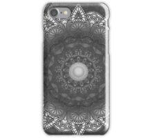Black And White Flower Mandala iPhone Case/Skin