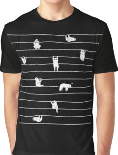 Sloth Stripe Graphic T-Shirt