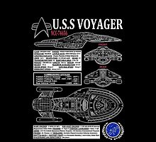 U.S.S VOYAGER NCC74656 by infrablue