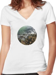Sea Shore Women's Fitted V-Neck T-Shirt