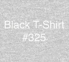 Black T-Shirt #325 One Piece - Long Sleeve