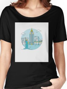 New York Illustration Women's Relaxed Fit T-Shirt