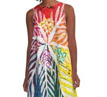 Leaves on the World Tree: The Arab Date Palm A-Line Dress
