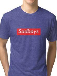 Sadboys Box Logo (L) - SADBOYS & YUNG LEAN Tri-blend T-Shirt