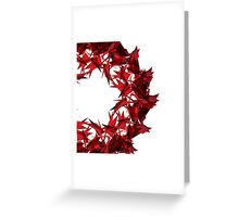 Abstract triangular background on white. Greeting Card