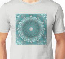Turquoise Flower Mandala Unisex T-Shirt