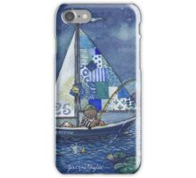 Moon fishing iPhone Case/Skin