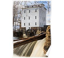 Mansfield Roller Mill in Indiana Poster