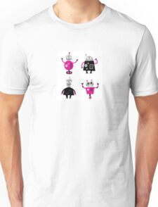 Cute cartoon robot characters Unisex T-Shirt