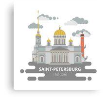 Saint-Petersburg flat cityscape. Canvas Print