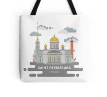 Saint-Petersburg flat cityscape. Tote Bag