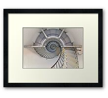 Going Up - Lighthouse Interior Framed Print