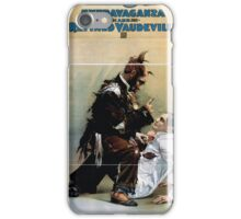 Performing Arts Posters Hurly Burly Extravaganza and Refined Vaudeville 1724 iPhone Case/Skin