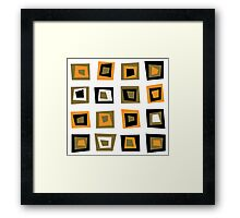Retro seamless background or pattern with brown squares Framed Print