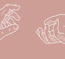 reaching for you Sticker