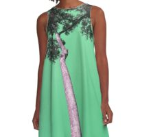 Tree in Green A-Line Dress