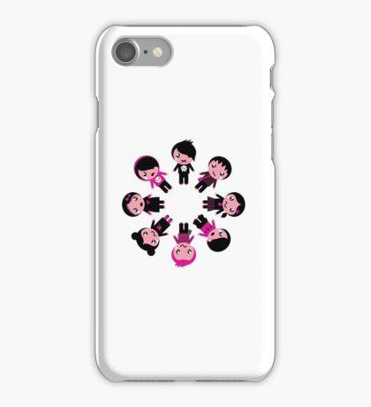 Cute retro emo kids group iPhone Case/Skin
