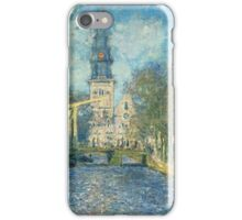 Claude Monet - Zuiderkerk In Amsterdam iPhone Case/Skin