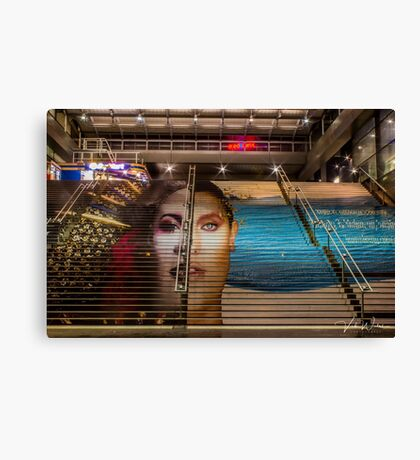The stairs at Southern Cross Station, Melbourne, Victoria, Australia Canvas Print