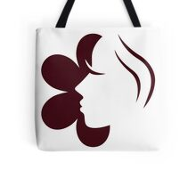 Woman face icon or design element Tote Bag