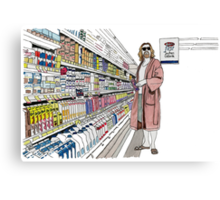 Jeffrey Lebowski and Milk. AKA, the Dude. Canvas Print