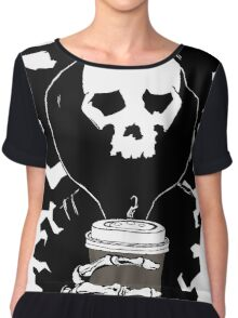Coffee in the Mourning Chiffon Top