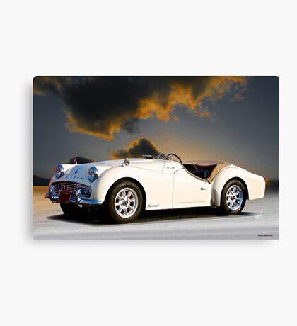Triumph 'Supercharged' TR3A Canvas Print