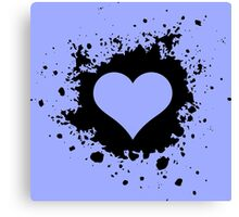 Template heart Canvas Print
