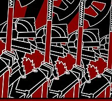 Dwarven Constructivist Poster - Baruk Kazâd! by Phosphorus Golden Design