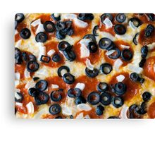 Pepperoni Pizza with Mushrooms and Onions Canvas Print