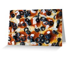 Pepperoni Pizza with Mushrooms and Onions Greeting Card