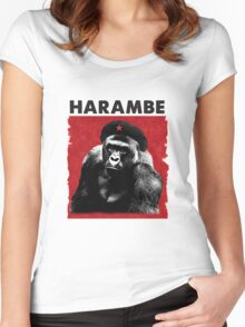 Harambe x Che Guevara Women's Fitted Scoop T-Shirt