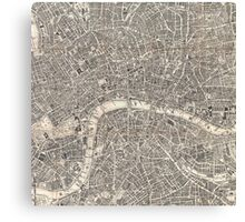 Map of London, 1899 Canvas Print
