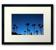 Blue Tropical Night Framed Print