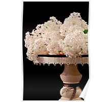 Pristine Lilacs On A Music Pedestal Poster