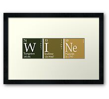 Wine Periodic Table Framed Print