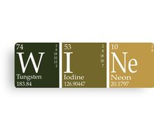 Wine Periodic Table Canvas Print