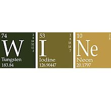 Wine Periodic Table Photographic Print