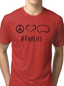 Peace, love and vanlife Tri-blend T-Shirt