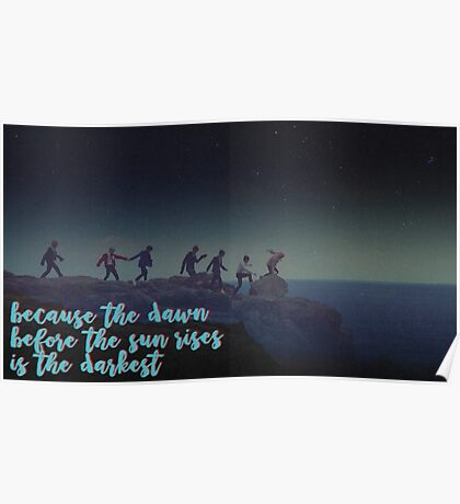 BTS - Because the Dawn Before the Sun Rises .. Poster
