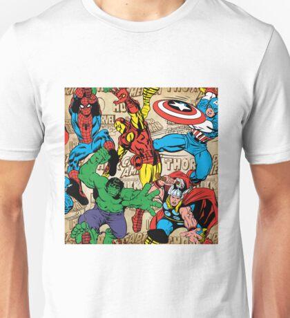 Marvel, avengers pattern Unisex T-Shirt