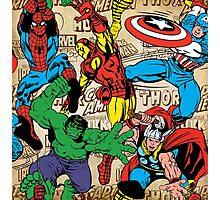 Marvel, avengers pattern Photographic Print