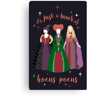 Hocus Pocus with Text Canvas Print