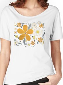 GARDEN PARTY #3 YELLOW & GRAY Women's Relaxed Fit T-Shirt
